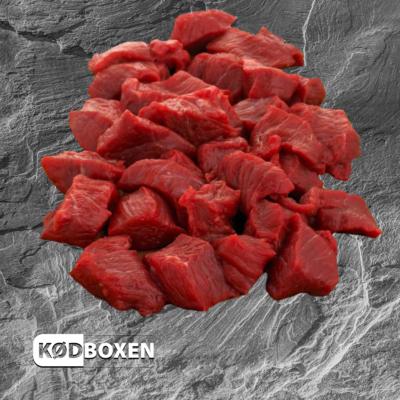 Oksekød i tern 500 gram